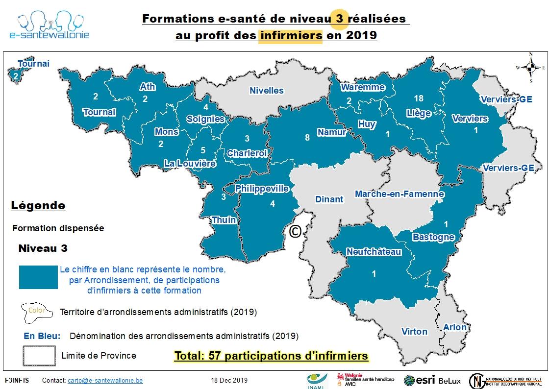 Participation Infi 2019 Formation Niveau 3 au 31/12/2019