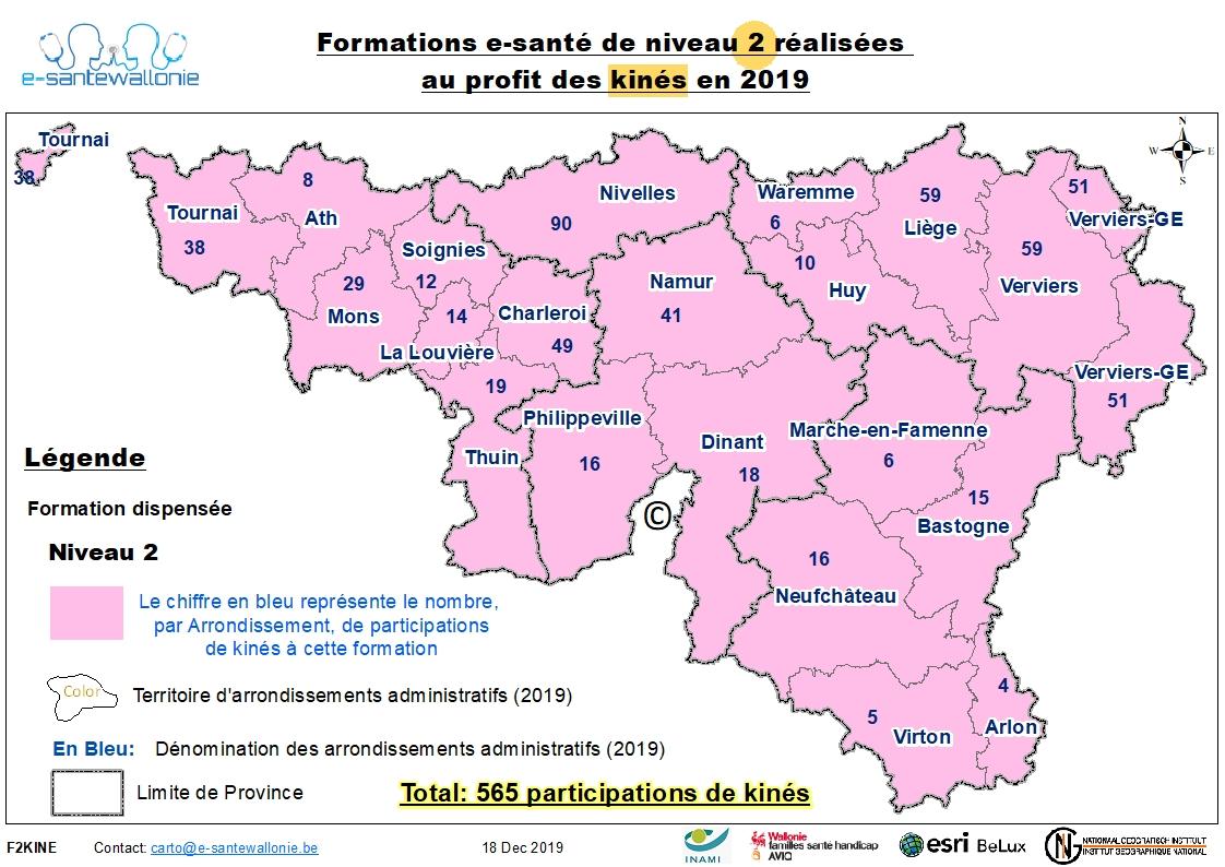 Participation Kiné 2019 Formation Niveau 2 au 31/12/2019