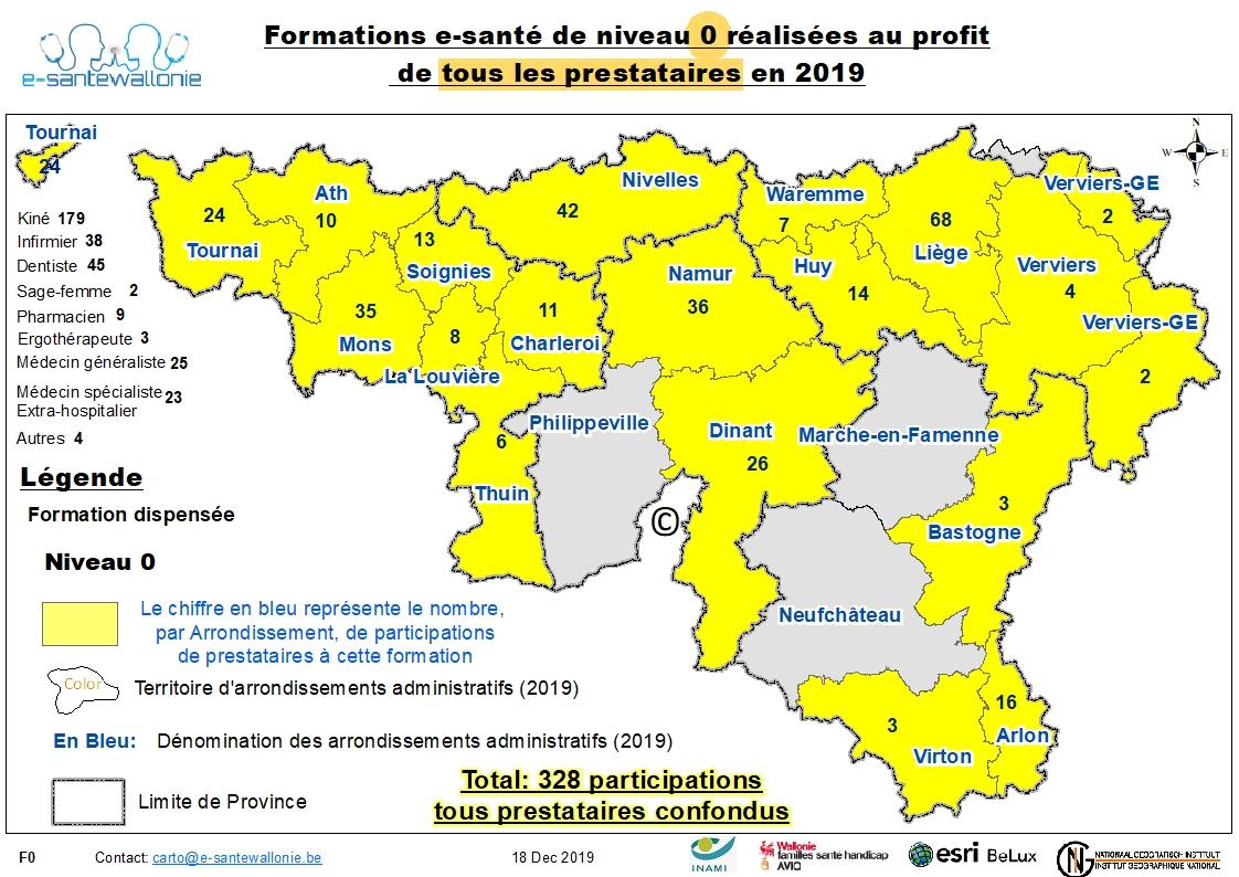 Participation Tous prestataires 2019 Formation Niveau 0 au 31/12/2019