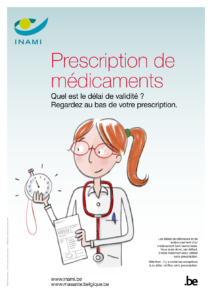 Affiche Inami prescription électronique