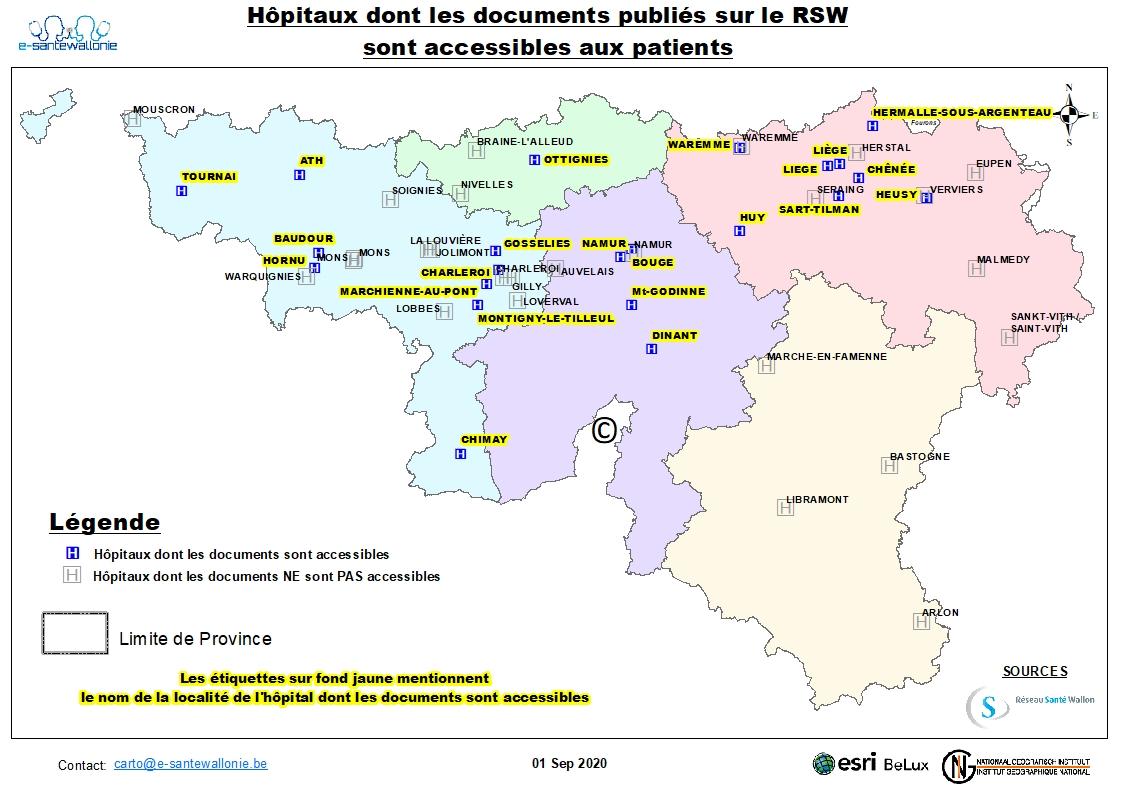 liste des hôpitaux francophones et des laboratoires privés qui accordent l'accès direct